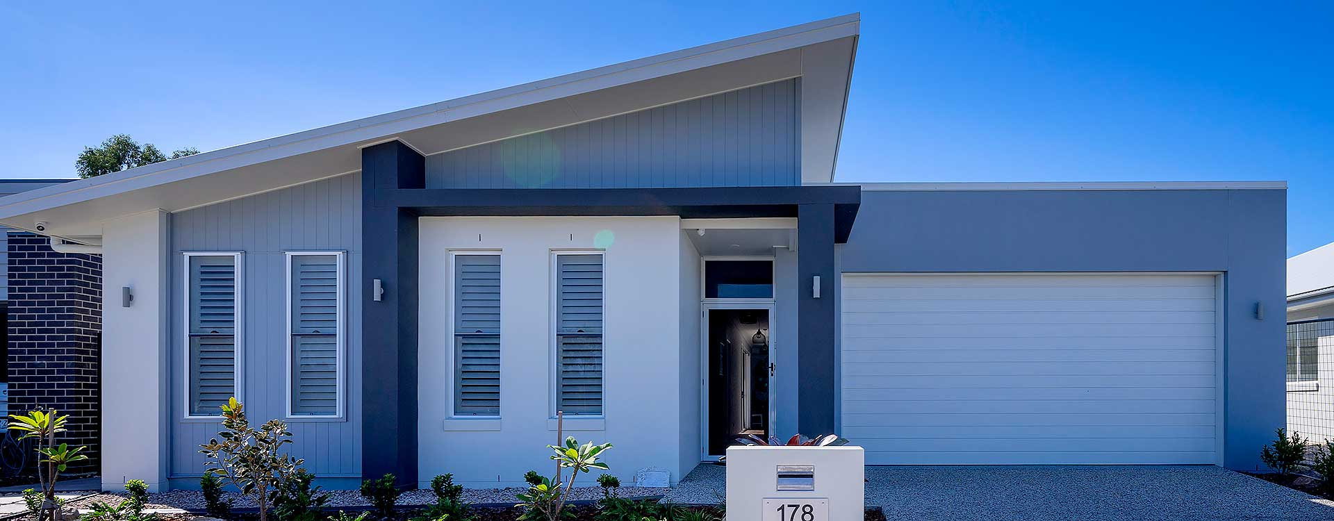 modern new home front