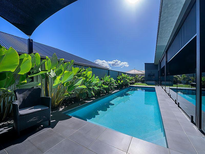 new home concrete swimming pool